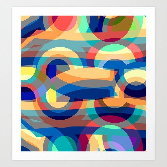 Marine abstraction II Art Print