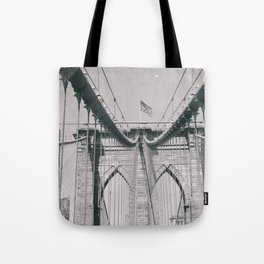 Brooklyn bridge, architecture, vintage photography, new york city, NYC, Manhattan view Tote Bag