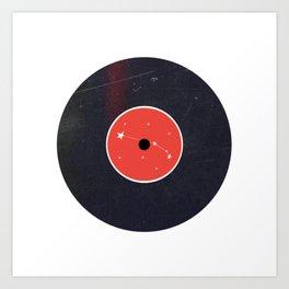 Vinyl Record Star Sign Art | Aries Art Print