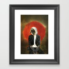 Sadcrow Framed Art Print