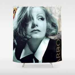 Greta Garbo Collage Portrait Shower Curtain