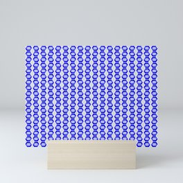 Sapphire Gemstone with Silver Accents Mini Art Print