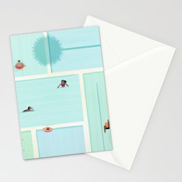 Saturdays At The Pool Stationery Cards