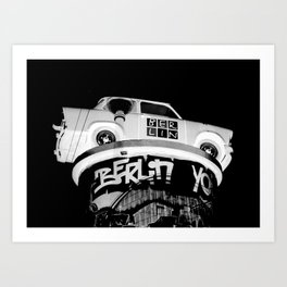 Berlin Double Exposure Art Print