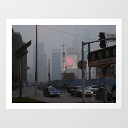 Pollution Art Print