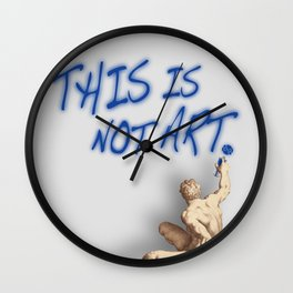 This Is Not Art Wall Clock