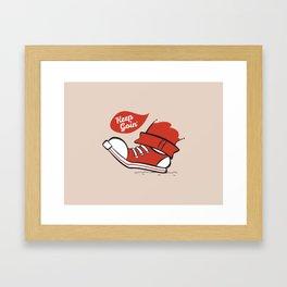Keep Goin' Framed Art Print