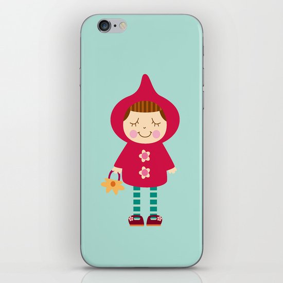 Little red riding hood iPhone Skin
