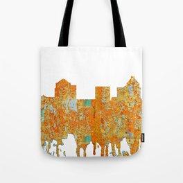 Greensboro, NC Skyline - Rust Tote Bag