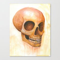 deaths grinning head Canvas Print