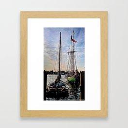 Inlet Masts Framed Art Print