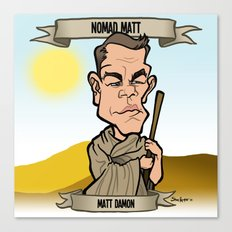 Nomad Matt (Matt Damon) Canvas Print