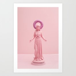 Pink religion Art Print