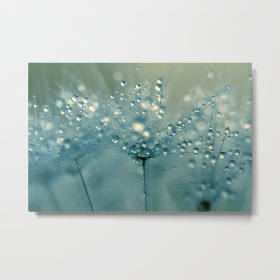Shower Blue Metal Print