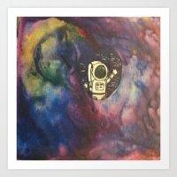 Astronaut In the Galaxy Art Print