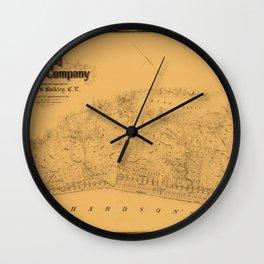 Map of Sausalito 1868 Wall Clock