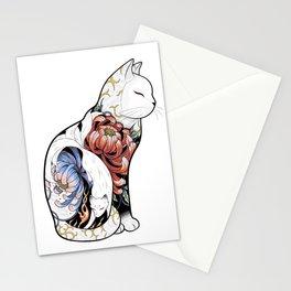 Kitsune Cat Tattoo Stationery Cards