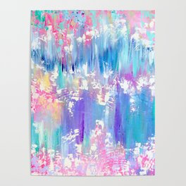 Pretty Pastel Abstract Poster