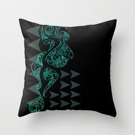 Riddick - Blue Throw Pillow