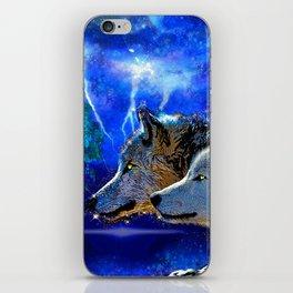 WOLF AND LIGHTENING iPhone Skin