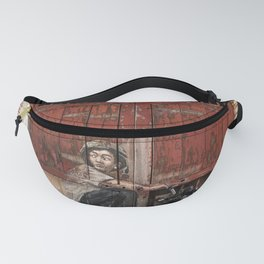 Boy On Motorcycle Fanny Pack