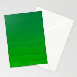 Acid Green Waves - Fresh Fun Greenery Stationery Cards