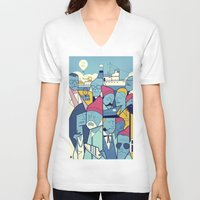 zissou V-neck T-shirts featuring The Life Acquatic with Steve Zissou by Ale Giorgini