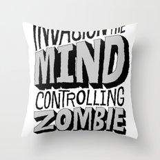 Zombie Parasites Throw Pillow
