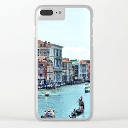 Along the Grand Canal Clear iPhone Case