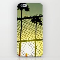 santa monica iPhone & iPod Skins featuring Santa Monica by Nicole Stamsek