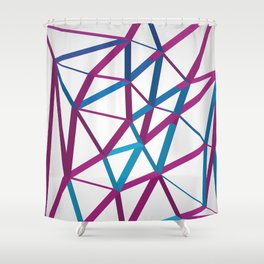 3D Futuristic GEO Lines Shower Curtain