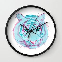 Tyger, Tyger, Burning Blue Wall Clock