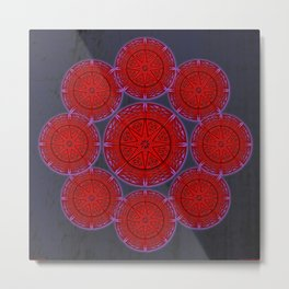 rashím towers gallery mandala Metal Print