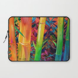 Exotic Rainbow Bamboo Laptop Sleeve