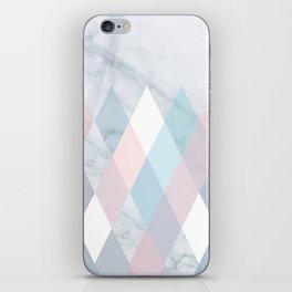 Diamond Peaks on Marble iPhone Skin