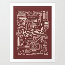 Make Handmade - Red Art Print