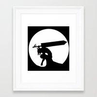 berserk Framed Art Prints featuring Gatsu berserk armor by Ednathum