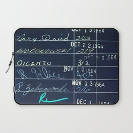 Library Card 23322 Negative Laptop Sleeve