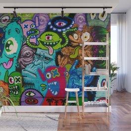 Cartoon Monsters Urban Graffiti Art Wall Mural