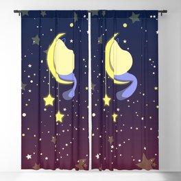 Girl on a moon Blackout Curtain