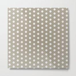 Gray Grey Alabaster Polka Dots Metal Print
