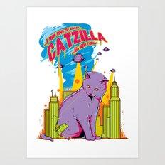 Catzilla Art Print