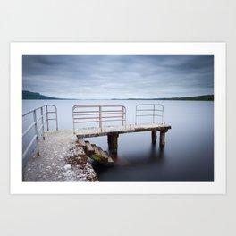 Fermanagh Lough Melvin Pier Art Print