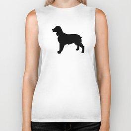 English Springer Spaniel dog breed pet art dog silhouette unique dog breeds black and white Biker Tank