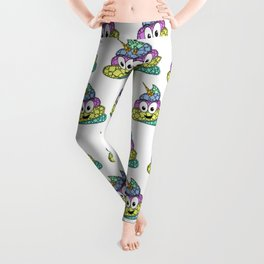 POO-nicorn - Magical Poop Unicorn - 57 Montgomery ave Leggings