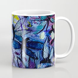 Dragonflies Flying in a Colorful Sky with Happy Yellow Highlights Delight by annmariescreations Coffee Mug