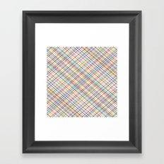 Rainbow Weave 45 Framed Art Print