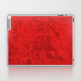 Picasso Line Art - Guernica (Red) Laptop & iPad Skin
