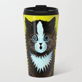 "Louis Wain's Cats ""Psychedelic Rainbow Cat"" Travel Mug"