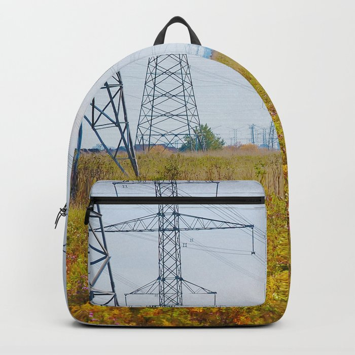 Landscape with power lines Backpack